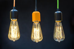 Lámparas ligeras de lujo retras hermosas Imagenes de archivo