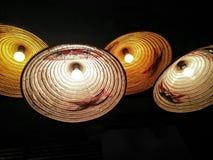 Lámparas ligeras del yute Fotografía de archivo libre de regalías