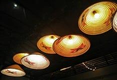 Lámparas ligeras del yute Fotos de archivo