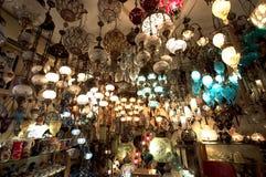 Lámparas magníficas del bazar fotografía de archivo