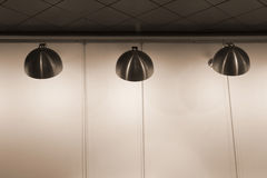 Lámparas modernas del acero inoxidable Fotos de archivo libres de regalías