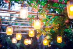 Lámparas modernas e industriales del estilo al aire libre Fondo ligero imagen de archivo libre de regalías