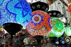 Lámparas multicoloras Fotos de archivo libres de regalías
