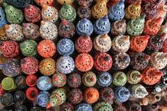 Lámparas multicoloras del incienso de la endecha plana, Túnez Foto de archivo