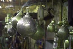 Lámparas orientales hermosas en la forma de las lunas Imagenes de archivo