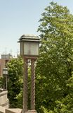 Lámparas públicas del viejo gas en la capital croata Zagreb foto de archivo