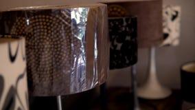 Lámparas retras del vintage almacen de video