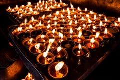 Lámparas, símbolo para rogar para la paz Imágenes de archivo libres de regalías