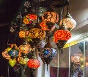 Lámparas turcas hechas a mano del vidrio de mosaico Imagen de archivo libre de regalías