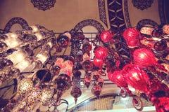 Lámparas turcas tradicionales Imágenes de archivo libres de regalías