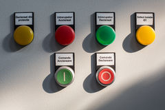Lámparas y botones Fotos de archivo