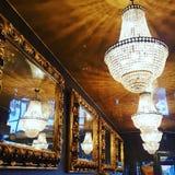 Lámparas y espejos Foto de archivo