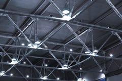 Lámparas y tubos metálicos Fotografía de archivo libre de regalías