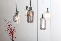 Lámparas y una planta Foto de archivo libre de regalías