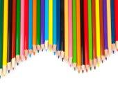Lápices agudos coloreados Imágenes de archivo libres de regalías