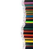 Lápices aislados del color en el fondo blanco Fotografía de archivo libre de regalías