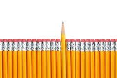 Lápices amarillos Imagen de archivo