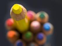 Lápices amarillos Imagenes de archivo