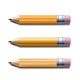 Lápices amarillos Fotos de archivo libres de regalías