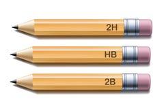 Lápices amarillos Imágenes de archivo libres de regalías