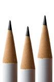 Lápices blancos Foto de archivo