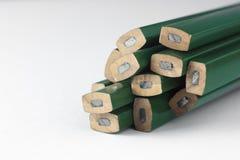 Lápices carpintero y albañil Fotos de archivo libres de regalías