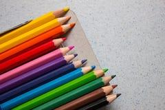 lápices 12color Imagen de archivo libre de regalías