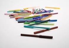 Lápices coloreados Fotos de archivo libres de regalías