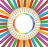 Lápices coloreados ilustración del vector