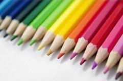 Lápices coloreados Fotografía de archivo libre de regalías