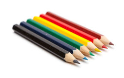 Lápices coloreados Fotos de archivo