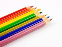 Lápices coloreados 2 imagenes de archivo