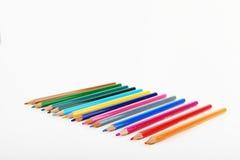 Lápices coloreados Fotografía de archivo