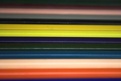 Lápices coloreados - ARTE Imagenes de archivo
