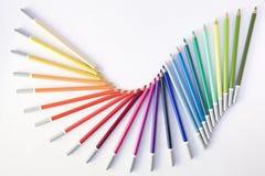 Lápices coloreados baile Foto de archivo libre de regalías