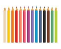 Lápices coloreados de madera realistas Fotos de archivo libres de regalías