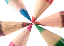 Lápices coloreados del creyón Foto de archivo