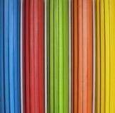 Lápices coloreados en el empaquetado Imágenes de archivo libres de regalías