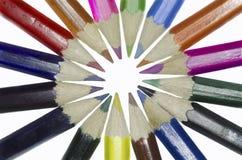 Lápices coloreados en la forma de una estrella Fotografía de archivo