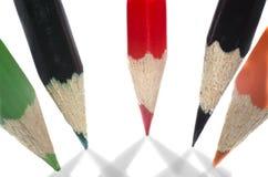 Lápices coloreados en la forma de una estrella Imagenes de archivo