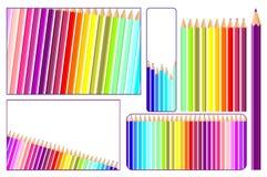 Lápices coloreados en vector Fotografía de archivo libre de regalías
