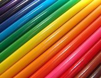 Lápices coloreados macro Fotografía de archivo libre de regalías