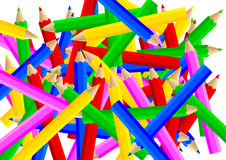Lápices coloreados pila ilustración del vector