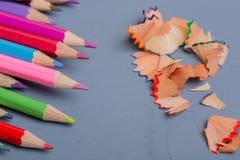 Lápices coloridos Fotografía de archivo