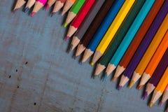 Lápices coloridos Foto de archivo libre de regalías