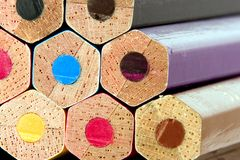 Lápices coloridos Fotografía de archivo libre de regalías