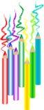 Lápices coloridos stock de ilustración