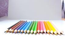 Lápices coloridos Imágenes de archivo libres de regalías