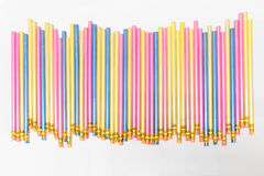 Lápices coloridos en blanco Imagenes de archivo