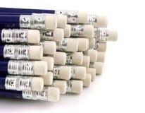 Lápices con las tapas de goma imagen de archivo